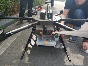 Tehtered Drone on-board Emergency Communication System Builds A Wireless Network In 15min